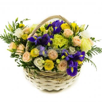 """Корзина цветов """" Яркость """""""