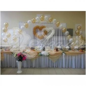 Оформление шарами на свадьбу «Комплект № 3»
